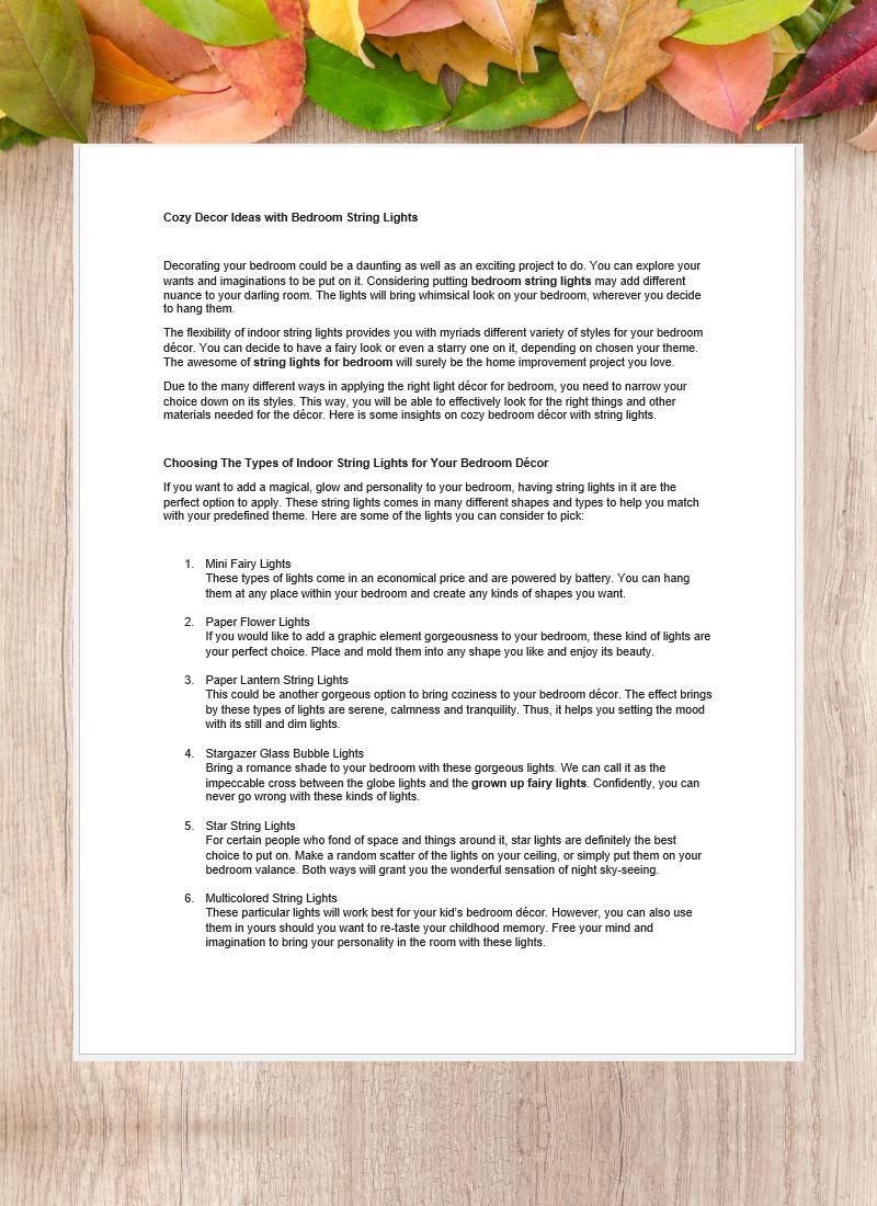 Penulisan Artikel Bahasa Inggris-Decor Ideas
