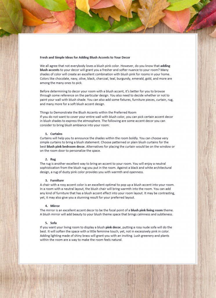 Penulisan Artikel Bahasa Inggris-Decoration Simple Ideas
