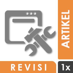 Revisi Tambahan untuk Penulisan Artikel