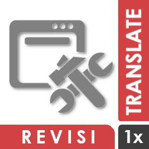 Revisi Tambahan untuk Jasa Penerjemahan