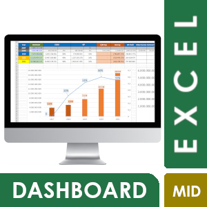 Jasa Dashboard Excel-Visualisasi Moderate